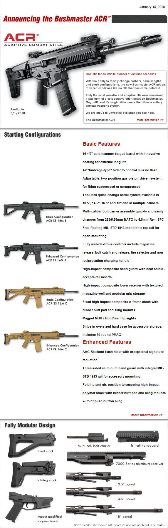 CombatRifle net - Remington ACR, Bushmaster ACR, Magpul
